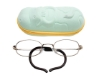 Hilco LeaderMax LM307 Eyeglasses in 383070011 Tan Frame with Teal Cow Case (35-17-115)