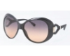 Tory Burch TY9005 Sunglasses in 501/95 BLACK w/GREY ORANGE FADE Lenses