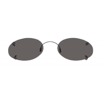 Hilco Rimless Low Oval Sunglasses