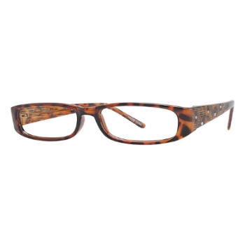 Capri Optics Traditional Plastics Amber Eyeglasses