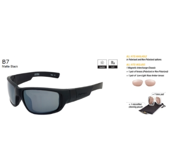 Switch B7 Matte Black / True Color Grey Non Reflection Polarized Glare Kit Sunglasses