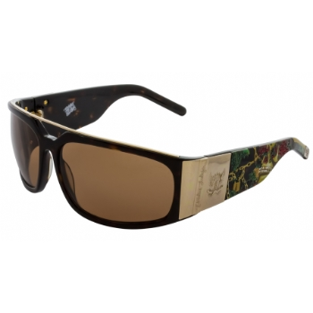 Christian Audigier CAS407 ROSE SKULL Sunglasses