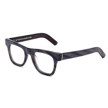 Super Ciccio IFFR 06X Black Horn Large Eyeglasses