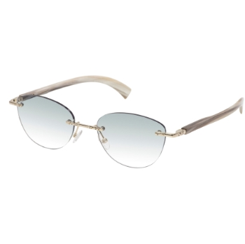 Gold & Wood Marquise 01.07.01.CB53 Sunglasses