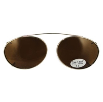 Hilco Traditional Oval Sunclip - Gold Sunglasses