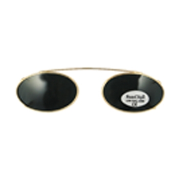 Hilco Traditional Low Oval Sunclip Sunglasses