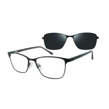 Revolution w/Magnetic Clip Ons Joplin w/ Polarized Clip-On Eyeglasses