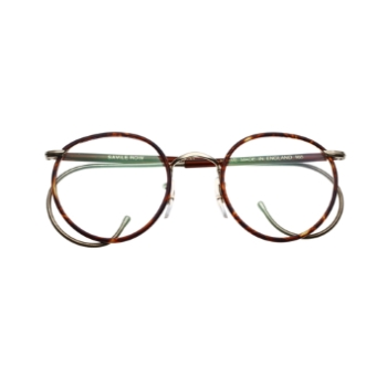 Savile Row 18KT Beaufort Panto w/ Cable Temples Eyeglasses