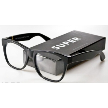 Super Basic Wayfarer Black Clear Lense 042 Eyeglasses