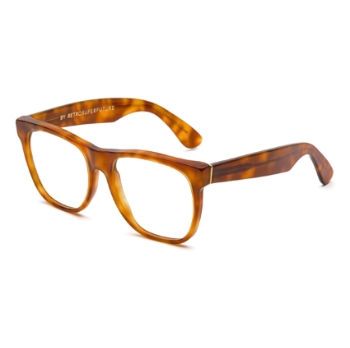 Super Classic Optical IF08 619 Light Havana Large Eyeglasses