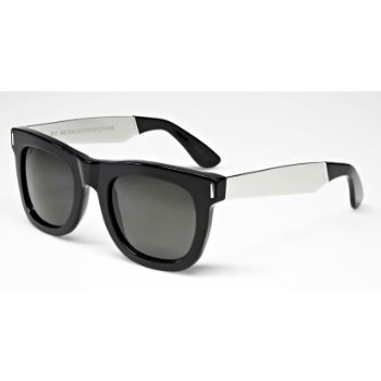 Super Ciccio Francis IGXB 767 Black/Silver Large Sunglasses