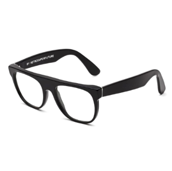 Super Flat Top I4R5 610 Black Small Eyeglasses