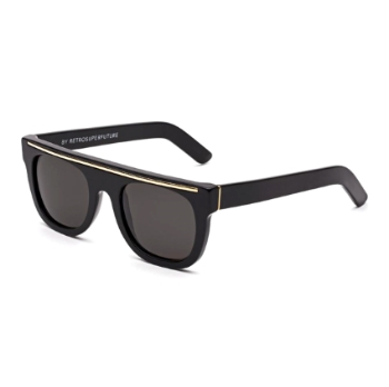 Super Flat Top Ciccio Black Gold Line I3N8 Sunglasses