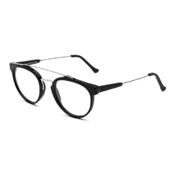 Super Giaguaro IMKU 618 Black Large Eyeglasses