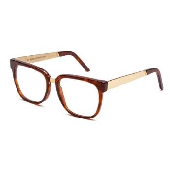 Super People I18D 349 Francis Havana Clear Lens Large Eyeglasses