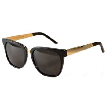 Super People Francis IPKR 348 Black/Gold Large Sunglasses