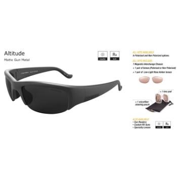Switch Altitude Matte Gunmetal/True Color Grey Reflection Silver Non-Polarized Sun Kit Sunglasses