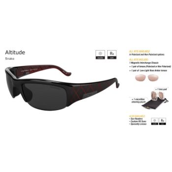 Switch Altitude Snake/True Color Grey Reflection Silver Polarized Glare Kit Sunglasses