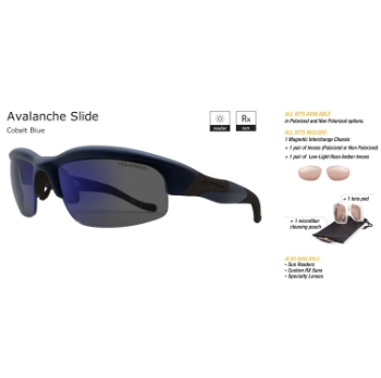 Switch Avalanche Slide Cobalt Blue/True Color Grey Reflection Blue Polarized Glare Kit Sunglasses