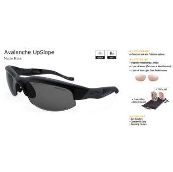 Switch Avalanche UpSlope Matte Black/True Color Grey Reflection Silver Non Polarized Sun Kit Sunglasses