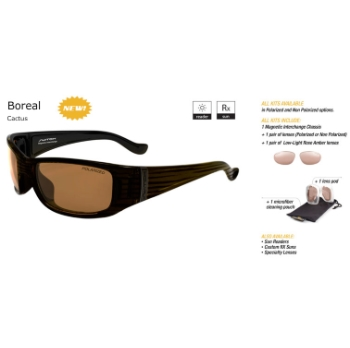 Switch Boreal Cactus/Contrast Amber Reflection Bronze Polarized Glare Kit Sunglasses
