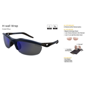 Switch H-Wall Wrap Cobalt Blue/True Color Grey Reflection Non Polarized Sun Kit Sunglasses