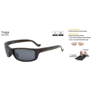 Switch Tioga Olive Grey / True Color Grey Reflection Silver Polarized Glare Kit Sunglasses