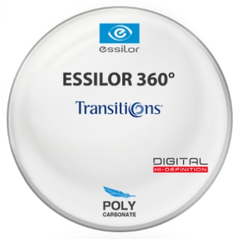 Essilor Essilor 360 Digital Transitions® 8™ (Brown) Polycarbonate Lenses