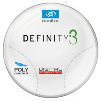 Essilor Definity® 3 Digital by Essilor Polycarbonate Progressives  Lenses