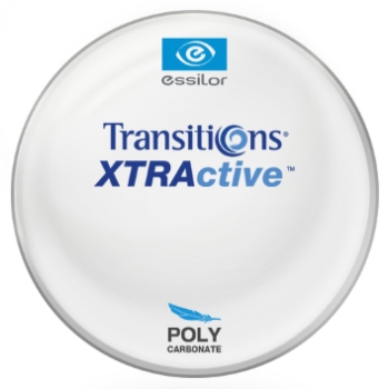 Essilor Transitions® XtrActive® [Gray, Brown or Graphite Green] - Polycarbonate Lenses