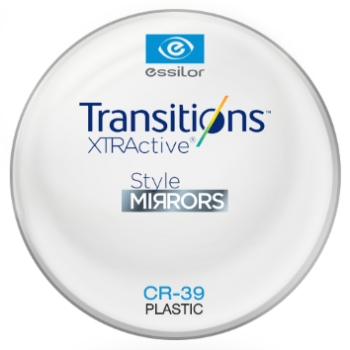 Essilor Transitions® XtrActive® - Style Mirrors - Plastic CR39 Plano Lenses