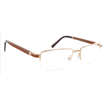 Gold & Wood Cepheus Eyeglasses