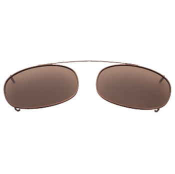 Hilco Traditional Oblong Sunclip - Bronze Sunglasses