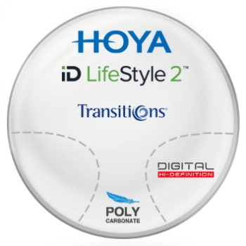 Hoya Hoyalux iD Harmony Transitions® SIGNATURE VII - [Gray or Brown] Polycarbonate Progressive Lenses