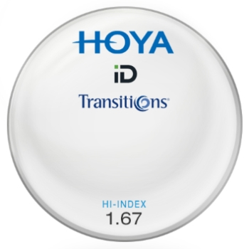 Hoya Hoya® ID Hi-Index Plastic 1.67 Aspheric Transitions ® SIGNATURE VII [Gray or Brown] Lenses