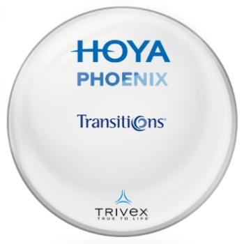 Hoya Hoya® Phoenix Trivex Transitions® SIGNATURE VII [Gray or Brown] Lenses