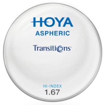Hoya Hoya® Aspheric Hi-Index 1.67 Transitions® SIGNATURE VII [Gray or Brown] Lenses