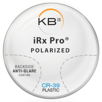 KBco iRx Pro® Polarized W/Back side AR coating Plastic CR-39 Color Gray-Green Progressive Lenses