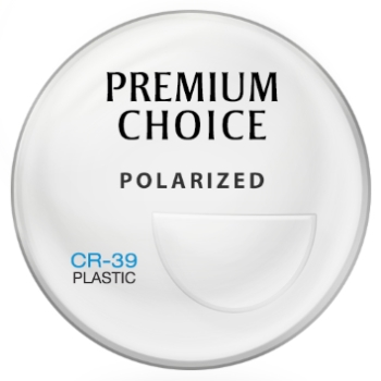 Premium Choice Standard Plastic CR-39 Polarized [Gray  or Brown] Bi-Focal FT-28 Lenses