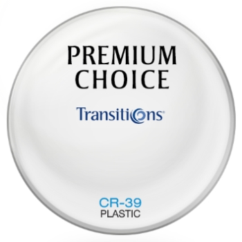Premium Choice Transitions® SIGNATURE VII - [Gray] Plastic CR-39 Plano Lenses