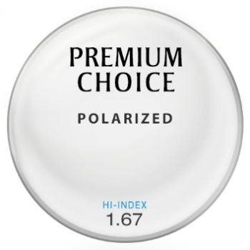 Premium Choice Polarized [Brown] Hi-Index 1.67 Lenses