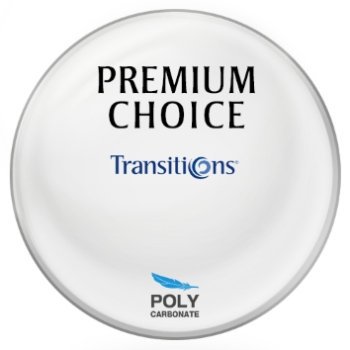 Premium Choice Transitions® SIGNATURE 8 - [Gray] Polycarbonate Plano Lenses
