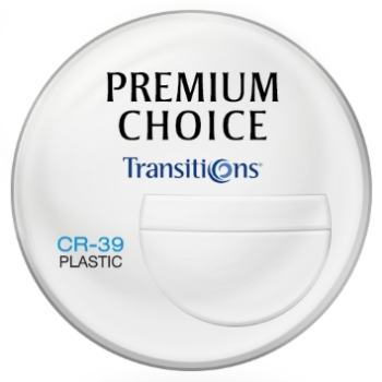 Premium Choice Transitions® Signature VII™ [Gray or Brown] 7x28 Plastic CR-39 Tri-Focal Lenses