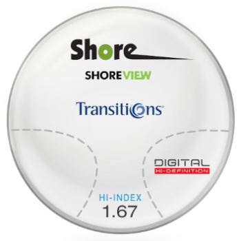 Shore Lens Shore View Digital Transitions® SIGNATURE VII - High Index 1.67 Progressive Lenses