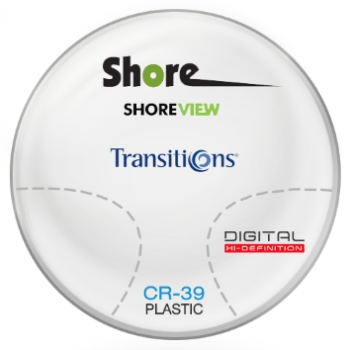 Shore View Digital Transitions® SIGNATURE 8 [Grey or Brown] CR-39 Plastic Progressive Lenses