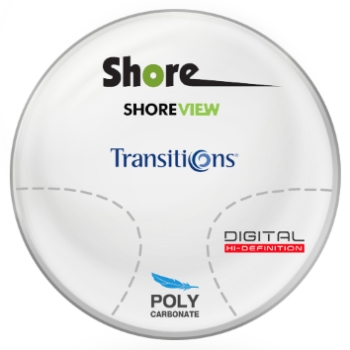 Shore View Digital Transitions® SIGNATURE 8 [Grey or Brown] Polycarbonate Progressive Lenses