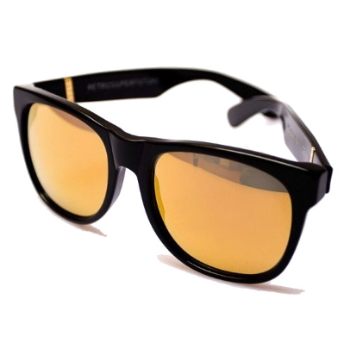 Super Basic Black with Gold Lenses 052 Sunglasses