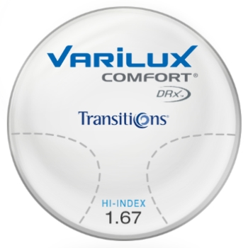 Varilux Varilux Comfort DRx® - Transitions® Signature™ 8 - Style Colors - Hi-Index 1.67 Progressive Lenses