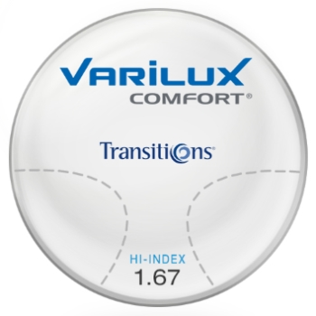 Varilux Varilux Comfort Transitions® SIGNATURE 8 - [Gray or Brown]  Hi-Index 1.67 Progressive Lenses
