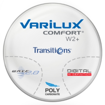 Varilux Varilux Comfort W2+ Transitions® Signature 8 - Style Colors - Polycarbonate Progressive Lenses
